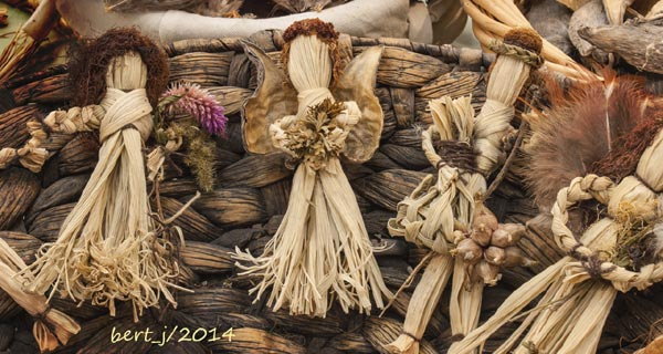 Corn dolls created by Laurie McMurray